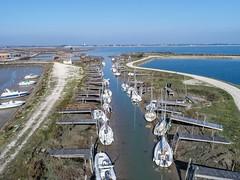 (Flo Guichard) Tags: drone aerial photography france dji phantom4pro sea atlantic ocean ré charente maritime boats low tide
