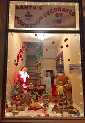 JLGA decorated a window for a community Christmas window contest.
