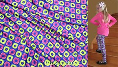 Leggings in Shimmering Pink and Yellow Rings on Blue Checkerboard Lycra Fabric 3800+views (Missourah gal) Tags: sewing leggings lycra lycraknit spoonflower fabric shimmeringpinkandyellowrings bluecheckerboard