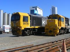 Locomotives at the Fonterra cheese factory, Hawera, Taranaki (Diepflingerbahn) Tags: fonterra hawera taranaki nz kiwirail cheesefactory diesellocomotives