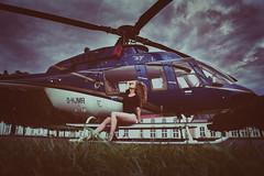 taca taca ta (Nic Piégsa) Tags: model paula guenuche helicopter sexy sensual beauty outdoor nature sky clouds cloudy beautiful glamour legs highheels body female woman