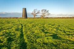 furrow (stevefge) Tags: 2017 autumn beverley uk yorkshire eastyorkshire westwood mill windmills tower trees bomen reflectyourworld green landscape shadows