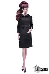 Little black dress by ELENPRIV (elenpriv) Tags: vanessa perrin intoxocating mix fashionroyalty 12inch doll fashion elenpriv elena peredreeva integrity toys jason wu little black dress fr2