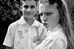 Last day at School (plot19) Tags: school last day manchester england english nikon north northern northwest uk britain british blackwhite blackandwhite family love teenager plot19 photography portrait peace luke liv olivia