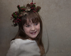 Briar (marykpics) Tags: christmas portraits children holly wreath child grandchild