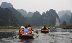 Trang An Grottoes 3 (Adam Hinett) Tags: trangan ninhbinh vietnam travel travelphotography olympus cliffs boat boattrip green river