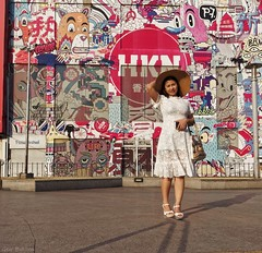 Beautiful in Bangkok (Geir Bakken) Tags: woman bangkok asian asia wall grafittiart portrait thailand thai beautiful perfectbeauty m43 mirrorless yabbadabbadoo microfourthirds