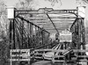 Iron Truss Bridge, Patuxent River (LJS74) Tags: blackandwhite blackwhite bw monochrome bridge patuxentriver maryland railroadbridge baltimoreandohio bo bollman irontrussbridge ironbridge historicsite savagemd