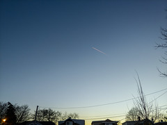 Red contrail (dharder9475) Tags: 2017 bluesky contrail lgv30 lookingup privpublic red streak sunset
