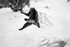 Jump! (Raphs) Tags: miez backyard cat inair jump jumping weird posture blackandwhite monochrome winter snow playing snowball frozenmotion raphs canoneos70d sigma30mmf14dchsmart fv5