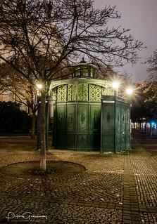 Berlin Pissoir Illuminated At Night
