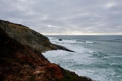 Serra e Mar (Salete G) Tags: saleteg mar vermelho azul cinzento entardecer