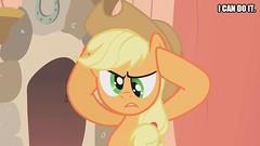 Applejack's Determination (Big-Kid) Tags: beige cowgirl cowboy hat head hooves wood horseshoe red reddish brown