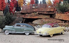 1948 Chevrolet Fleetline AeroSedan & 1950 Chevrolet Styleline Deluxe Bel Air (JCarnutz) Tags: 124scale diecast danburymint franklinmint 1948 1950 chevrolet fleetline styleline