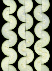 58713.01 Cucurbita pepo var. cylindrica (horticultural art) Tags: horticulturalart cucurbitapepovarcylindrica cucurbitapepo cucurbita zucchini vege squiggles pattern