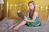 195 of Year 4 - A good read (Hi, I'm Tim Large) Tags: hot girl woman cute beauty beautiful dress green redhead redhair read reading book study studying classic attractive 365 195 fuji fujifilm xf xpro2 35mm f14 bedroom casual timothylarge timlarge tacraftphotography tacrafts apictureeverydayyear day everyday