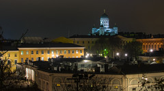 Senate Square and downtown Helsinki, Finland (ap0013) Tags: helsinki finland city cityscape skyline senate square architecture senatesquare helsinkifinland suomi night dark longexposure