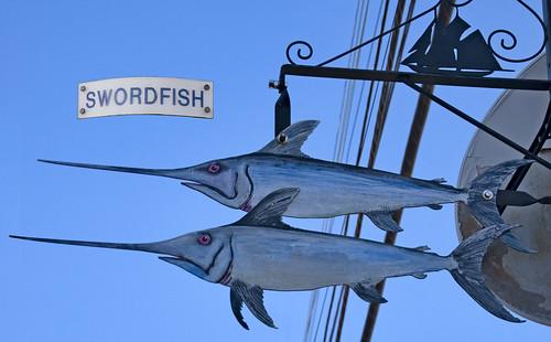 'Swordfish' -- Street Sign in Lunenburg (NS) September 2017 DSC_2177