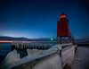 Charlevoix Lighthouse (T P Mann Photography) Tags: winter lighthouse exposure long night michigan lake christmas merry merrychristmas