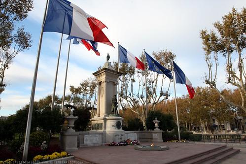 FR10 9496 WWI Monument. Narbonne, Aude, Languedoc