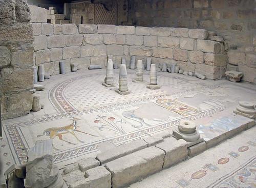 Mosaïque de la Chapelle de la Theotokos (Mont Nebo, Jordanie)