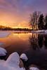 Boxing Day Sunrise on Verona Rock Lake (Adam C Images) Tags: fuji xt2 mirrorless xtrans iii sensor crop 15x sunrise verona rock lake south frontenac township ontario canada frozen winter snow ice