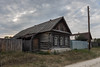 Village house. (Oleg.A) Tags: wood autumn penzaregion russia old outdoor rural materials viewpoint building countryside blue colorful interior house orange landscape twilight sunset sky evening shadow yellow nature architecture landscapes outdoors sinorovo penzenskayaoblast ru