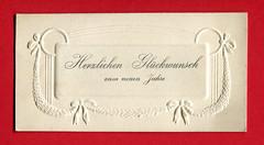 Neujahrsgrußkarte mit Girlandenornament (altpapiersammler) Tags: alt old vintage card karte gruskarte grus grüse greeting regards schriftdesign schrift zierschrift geprägt coined lettering