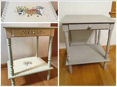 Another Chalk Paint Salvage (Foxy Belle) Tags: chalk paint thrift store table makeover gray waverly mineral