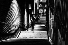 Night steps (andersåkerblom) Tags: walking streetcapture streetlife canon stairs stockholm streetphotography streetphoto streetshot street night monochrome blackwhite blackandwhite bw bnw