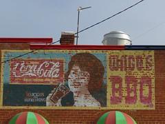 Woodward Coca-Cola girl (jimsawthat) Tags: coke cocacola brick smalltown downtown woodward oklahoma vintagesign ghostsign