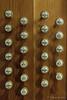 Registerzüge einer Orgel (Sockenhummel) Tags: kirche orgel zeltingerplatz registerzüge fuji x30 tasten knöpfe schrift holz musik church