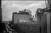 West 23rd Street, looking west from the High Line, stormy weather, Chelsea, New York, Kodak Retina IIIc, Arista.Edu 200, Moersch Eco Film Developer, early December 2017 (steve aimone) Tags: west23rdstreet chelsea highline cityscape manhattan newyork kodakretinaiiic 35mm film aristaedu200 moerschecofilmdeveloper blackandwhite monochrome monochromatic urban urbanlandscape stormy