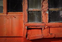 (jtr27) Tags: dsc04485l jtr27 sony alpha nex7 nex emount mirrorless vivitar komine 55mm f28 macro manualfocus orange railroad car peelingpaint maine newengland