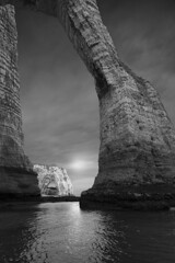 Archs (Michel Couprie) Tags: europe france nature normandy normandie noiretblanc nb bw blackandwhite sea seascape falaise clouds cliff water wideangle rock reflection reflect reflet sunrise composition canon eos tse24mmf35l couprie