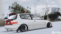 Merry Christmas and Happy New Year! (TheFaNTaS11) Tags: honda civic ej stance stanced snow snowy cambergang hellaflush stancenation slammed static happy new year merry christmas holidays grandtheftautov gta5 graphics ice