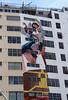 Vertical Wall Mural (Robb Wilson) Tags: downtownla pershingsquarepark apartmentbuilding wallmural losangeles angelsinflight