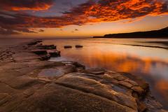 Kimmeridge Bay Sunset - Dorset (E_W_Photo) Tags: kimmeridge bay dorset ledge lowtide