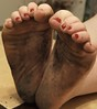 10171176_1496558770566034_3589669803747401386_n (paulswentkowski1983) Tags: dirty feet soles filthy pitch black female calloused