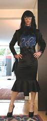 IMG_2818 (Claudia Satin Fetish) Tags: satin crossdresser crossdressing clit cock scarf secretary stockings fetish heels sexy blouse blazer bowtie
