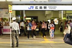 the evening of a festival (__nEUROn__) Tags: hiroshima snapshot japanimages 広島駅 jr西日本