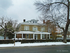 Stone Front House (r.w.dawson) Tags: bowlinggreen carolinecounty virginia va winter snow architecture building smalltown house home abode