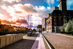 Streets of Malmö (Maria Eklind) Tags: skeppsbron autumn building bridge malmölive nature sweden outdoor arkitekturmalmölive light canal skåne malmö skybar sky bagersplats street architecture sunlight bro kanal höst city skånelän sverige se