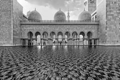 Sheikh Zayed Grand Mosque in B&W [Explored 2017-12-09] (T.Seifer) Tags: architecture abu dhabi grand mosque cityscape fx building beautiful islamic sheikh zayed emirates uae blackandwhite blackwhite bw travel tourism outdoors whiteandblack whiteblack weisschwarz city