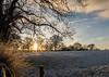 Snow Fields (The Crewe Chronicler) Tags: snow fields field sun lowsun sunrise fuji fujix20 x20 cheshire