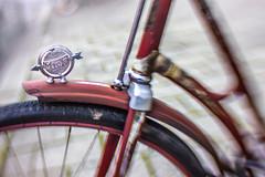 Miele Oldtimer (suzanne~) Tags: bike bicycle vintage oldtimer miele 100bicycles project detail wheel lensbaby composerpro sweet35 plungerbrake spoonbrake