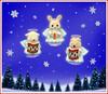 Sylvanian Families - Christmas Angels (Sylvanako) Tags: christmas toys sylvanian families holiday xmas angel angels stars snow snowing tree trees card cute animals rabbit pig goat carols season greetings sing festive