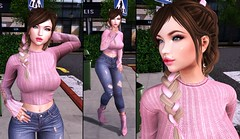 Like No-one's Watching (ZexyQueen) Tags: secondlife sl slphotography slfashion slstyle slblog slblogger casual pink eliavah fakeicon astralia foxy foxyhair pumec thechapterfour momochu arcade wintershallow district20 yummy blueberry mosquitosway catwa