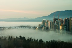 Fog in day (F0t0graphy) Tags: nikon nikkor vancouver britishcolumbia canada bridge granville downtown fog