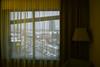 In a hotel room n.2 (Vincenzo Elviretti) Tags: lubiana slovenia estero hotel stanza stanze massimo volume room colori caldi tenui verde radisson city park nonluogo tenda muro
